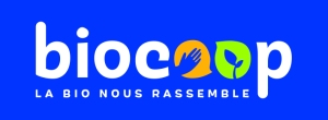 LOGO_BIOCOOP+SIGNATURE_quadri fond bleu